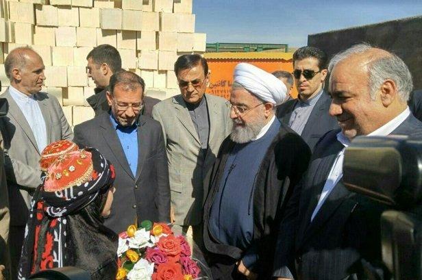Cumhurbaşkanı Ruhani, Kirmanşah eyaletinde