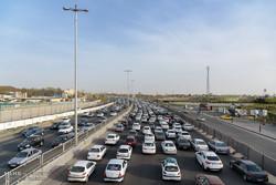 ترافیک صبحگاهی در محورهای بزرگراهی پایتخت