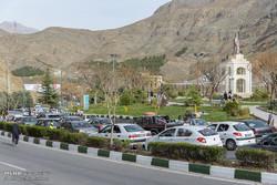 ترافیک در محور ورودی جاده چالوس و بزرگراه البرز قزوین