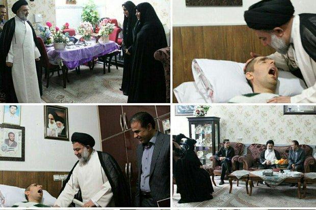 نماینده ولیفقیه به دیدار شهید زنده لرستانی رفت