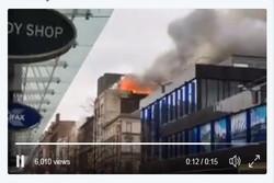 آتشسوزی گسترده در مرکز شهر گلاسکو