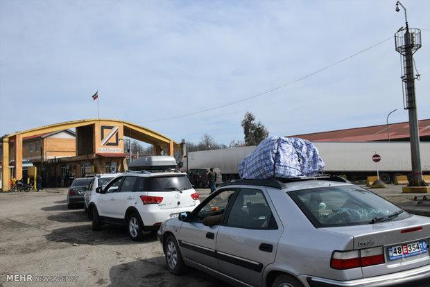 پایانه مرزی آستارا در ایام نوروز
