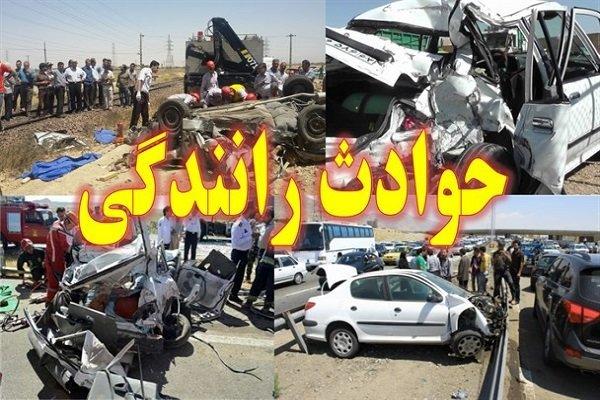 ۱۰ مجروح بر اثر حادثه رانندگی در جنوب سیستان و بلوچستان