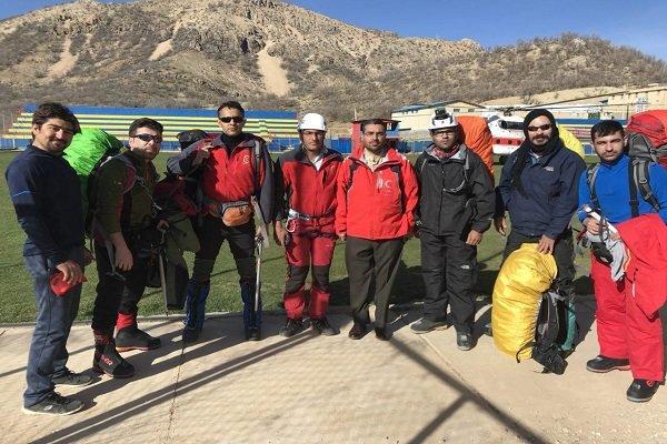 اعزام تیم جستجو و نجات در کوهستان جمعیت هلال احمر همدان به دنا