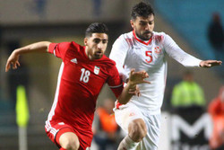 دیدار تیم ملی فوتبال ایران و تونس