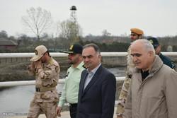 آذربائیجان کے وزير اقتصاد و صنعت کا آستارا ریل کا معائنہ