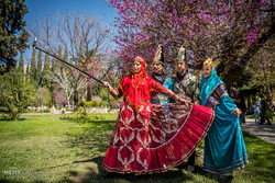 Nowruz tourists in Eram Garden of Shiraz
