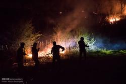 آتش سوزی در منطقه حیران مهار شد