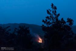 آتش سوزی در برخی مناطق جنگلی گیلان/ وزش باد تا امشب ادامه دارد