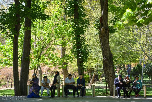 متنزه ارم في شيراز خلال عيد النوروز