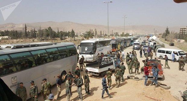 مشرقی غوطہ سے 15 ہزار سے زائد دہشت گردوں کا انخلا