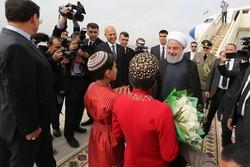 الرئيس الايراني يصل الى عشق آباد عاصمة تركمانستان