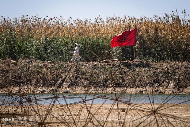 بازدید کاروان راهیان نور از منطقه عملیاتی شلمچه