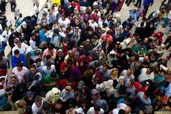 ازدحام جمعیت گردشگران در ورودی قلعه «فلک الافلاک» خرمآباد
