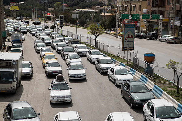 ترافیک نوروزی در جاده های گیلان