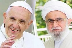 تشکر پاپ فرانسیس از رئیس اتحادیه اروپایی علماء و تئولوگ های شیعه