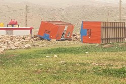 واژگونی کانکس های زلزله زدگان سرپلذهابی