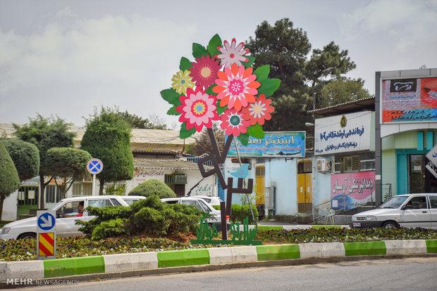المان های نوروزی در سطح شهر گرگان