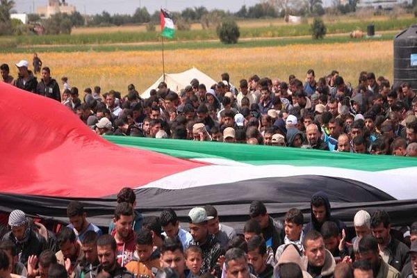 10 شهداء وإصابةأكثر من 1345 فلسطينياً خلال مسيرة العودة في غزة
