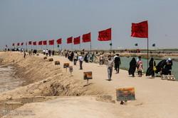 نمایشگاه «راه ماندگار» برای راهیان نور در مرز شلمچه برپا شد
