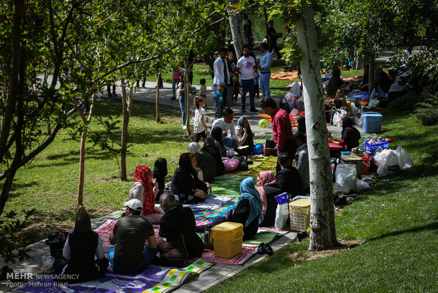 Iranians celebrate Nature's Day to bid farewell to Nowruz