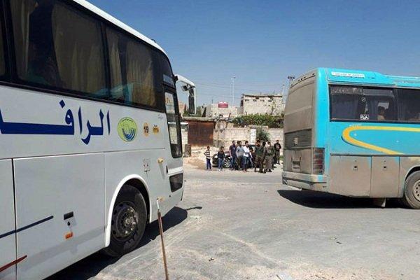 بدء خروج الدفعة الرابعة من الارهابيين من بلدات جنوب دمشق