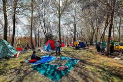 حضور اکیپهای گشت زنی موتورسوار در بوستانها در روز طبیعت