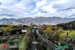 A view of Tehran on a day with clean air quality