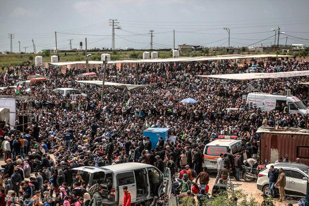 Gazze'deki protestolardan fotoğraflar