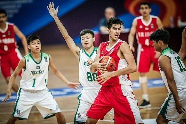 المنتخب الايراني يهزم نظيره الماكاوي في بطولة آسيا لكرة السلة لليافعين