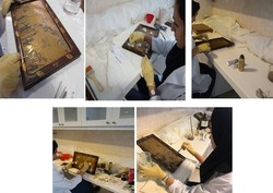 تابلو معرق ژاپنی در مجموعه سعدآباد حفاظت و مرمت شد