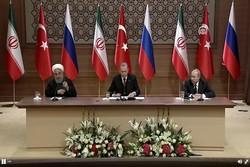 نشست مشترک رؤسای جمهوری ترکیه، روسیه و ایران