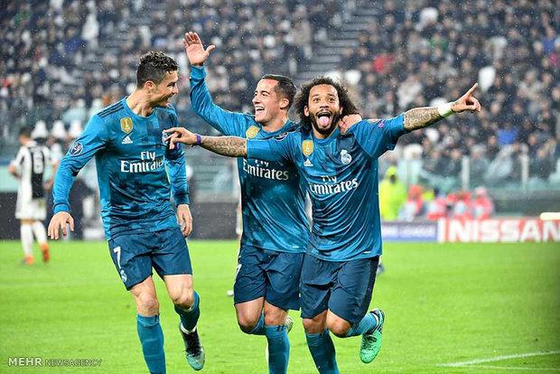 دیدار تیم های فوتبال یوونتوس و رئال مادرید
