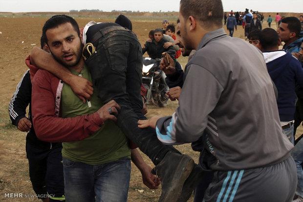 تظاهرات خونین در غزه