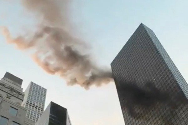الحريق في برج ترامب