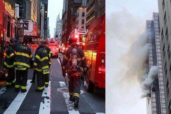 قتيل و6 جرحى بحريق ضخم في برج ترامب