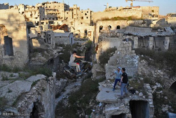 فريق باركور حلب ينعش المدينة المدمرة في ظل الحرب