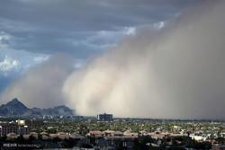 طوفان شن با سرعت ۷۰ کیلومتر در یزد