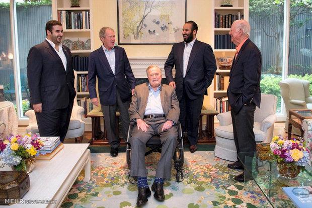 دیدار بن سلمان با خانواده بوش