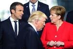 Trump Macron Merkel