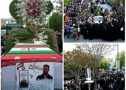 مراسم تشییع پیکر شهید مدافع حرم اکبر زوار جنتی در تبریز برگزار شد
