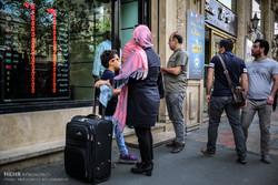 Tahran'daki döviz alışverişinden kareler
