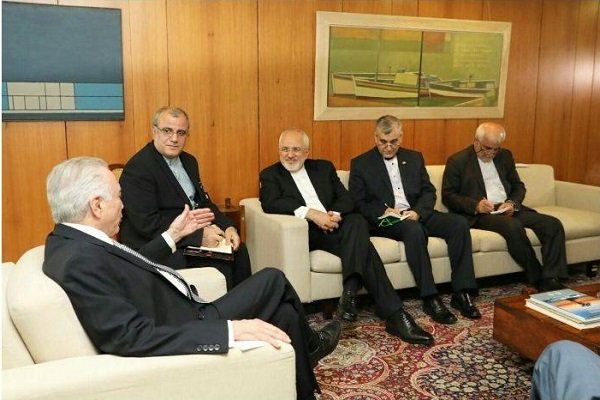 Iranian FM, Brazilian pres. call for coop. in oil, gas sector