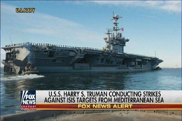 """حاملة الطائرات """" ترومان"""" الأمريكية في طريقها إلى شرق المتوسط"""