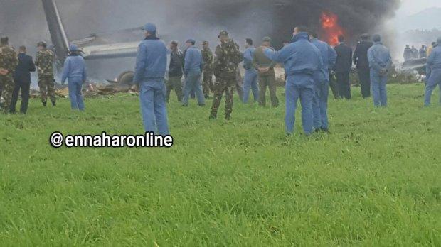 تحطم طائرة عسكرية جزائرية على متنها 100 شخص