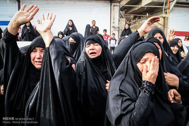 """تشييع جثمان الشهيد المدافع عن الحرم  """"سيد عمار موسوي"""""""