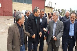 بازدید سینکی از شهرک صنعتی نقاط زلزله زده استان کرمانشاه