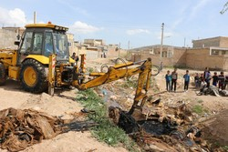 ایجاد ۸ کانال برای خروجی آب از شهر آق قلا
