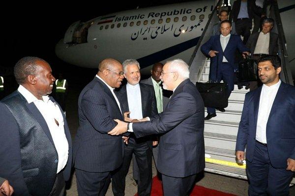 Zarif lands in Namibia