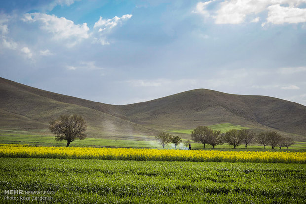 """طبيعة قرية """"فريازان"""" الواقعة بمحافظة همدان غربي ايران"""